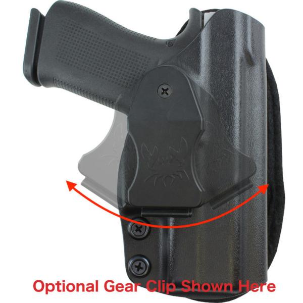 optional belt clip for Low Ride Holster