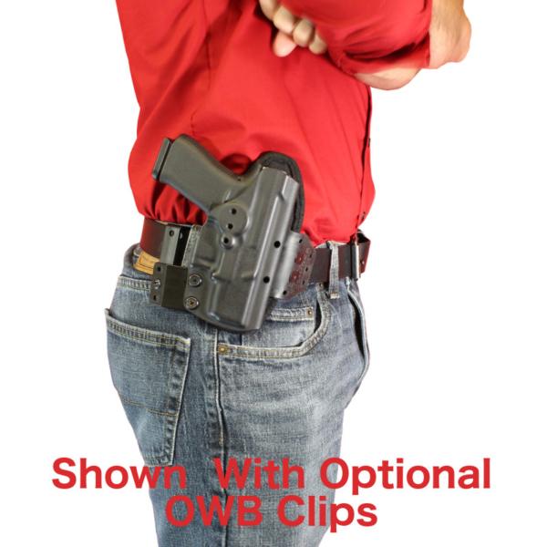 Optional OWB clips for Glock 36 Holster